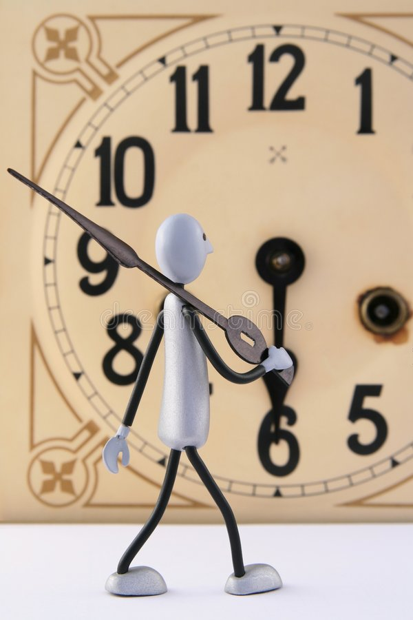 2古色古香的时钟形象维修服务 免版税库存图片
