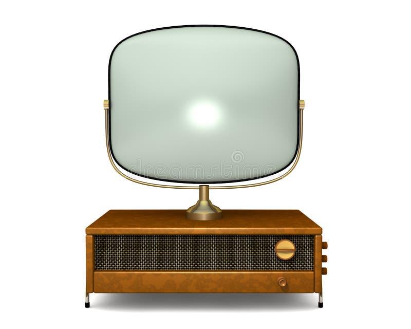 2古色古香的电视 皇族释放例证