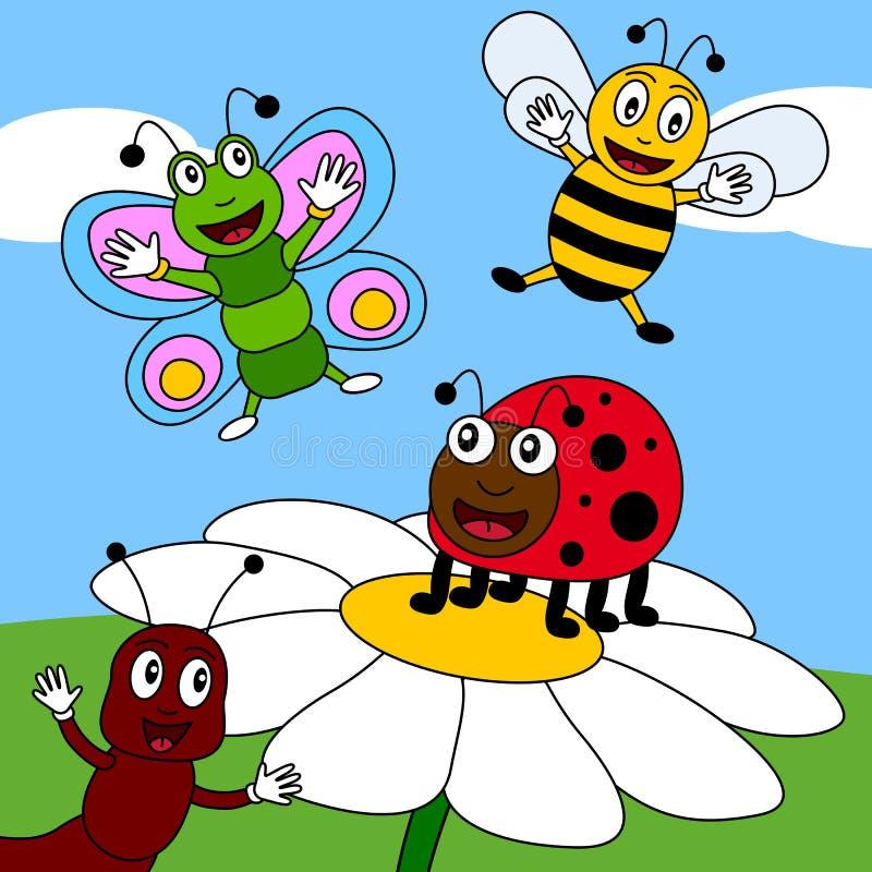 2只域昆虫夏天 向量例证