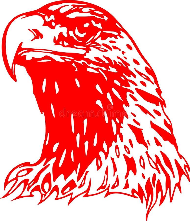 2只老鹰火焰状题头 向量例证