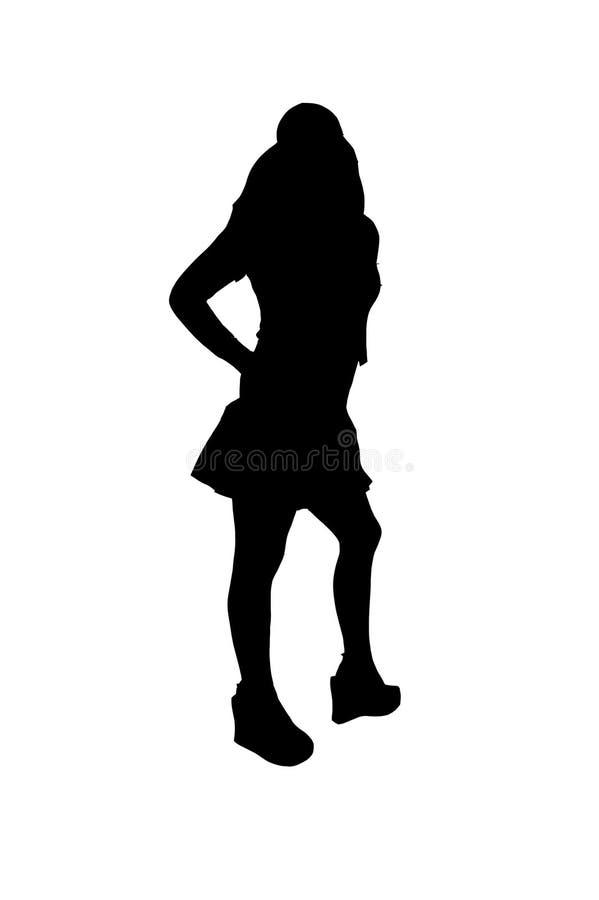 2可爱的影子妇女 向量例证
