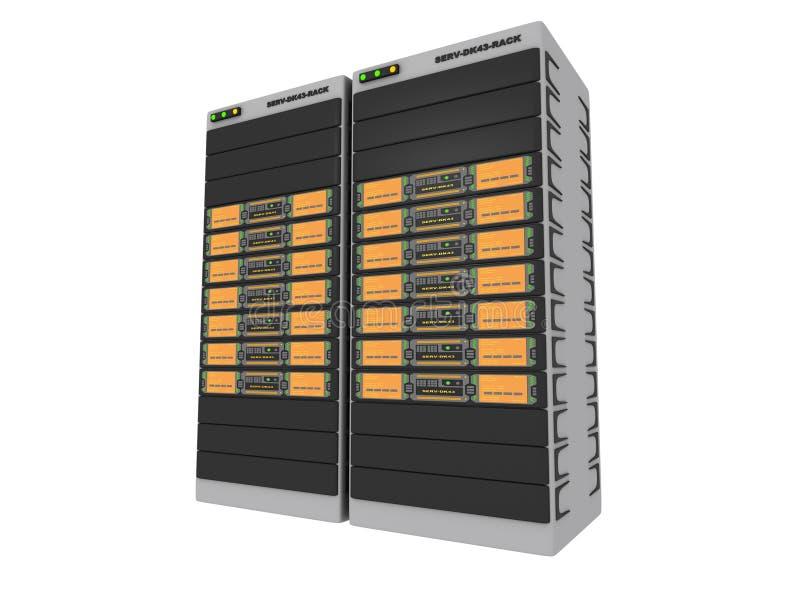 2台3d桔子服务器 向量例证