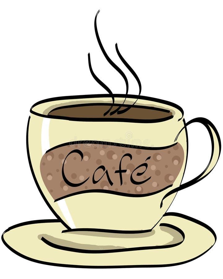 2咖啡馆 皇族释放例证