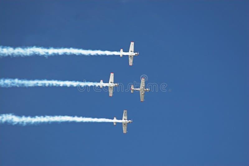 2四架飞机 库存图片
