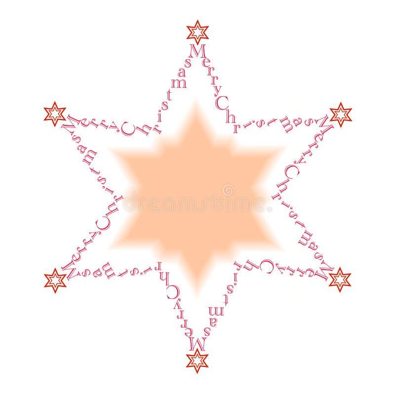 2圣诞节快活的星形 向量例证