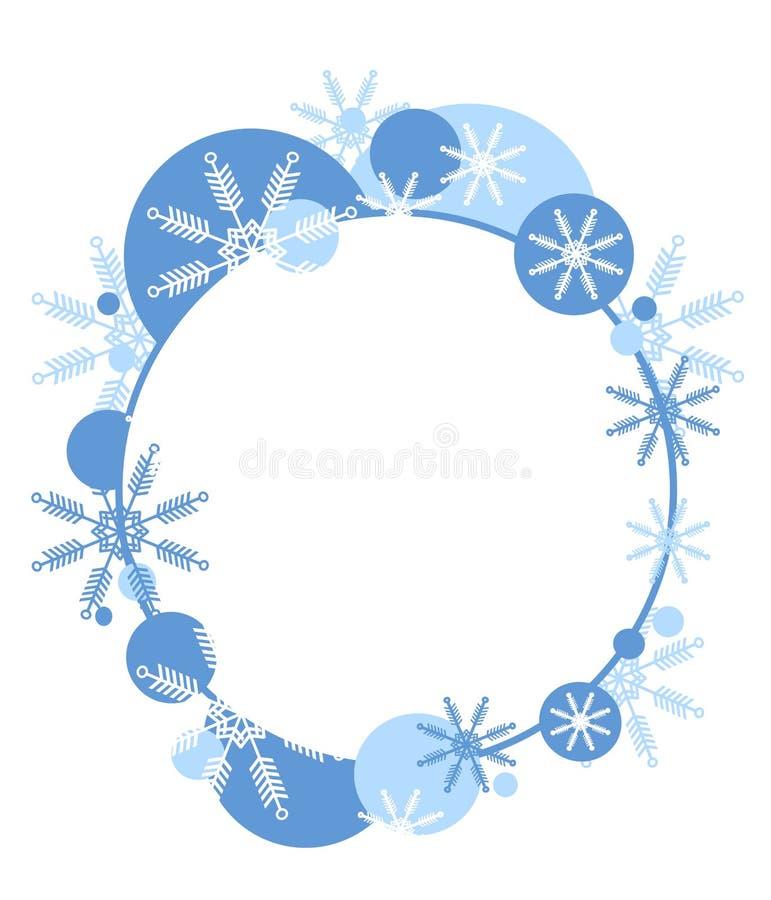 2圣诞节标签徽标 库存例证
