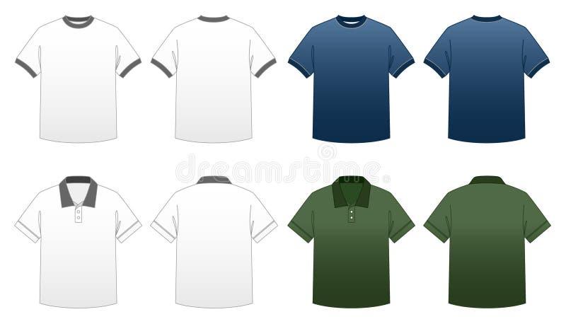 2块人S系列衬衣t模板 免版税库存图片