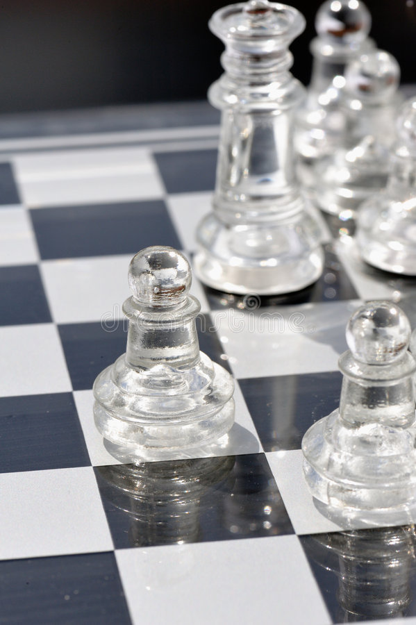 2块棋玻璃 库存图片