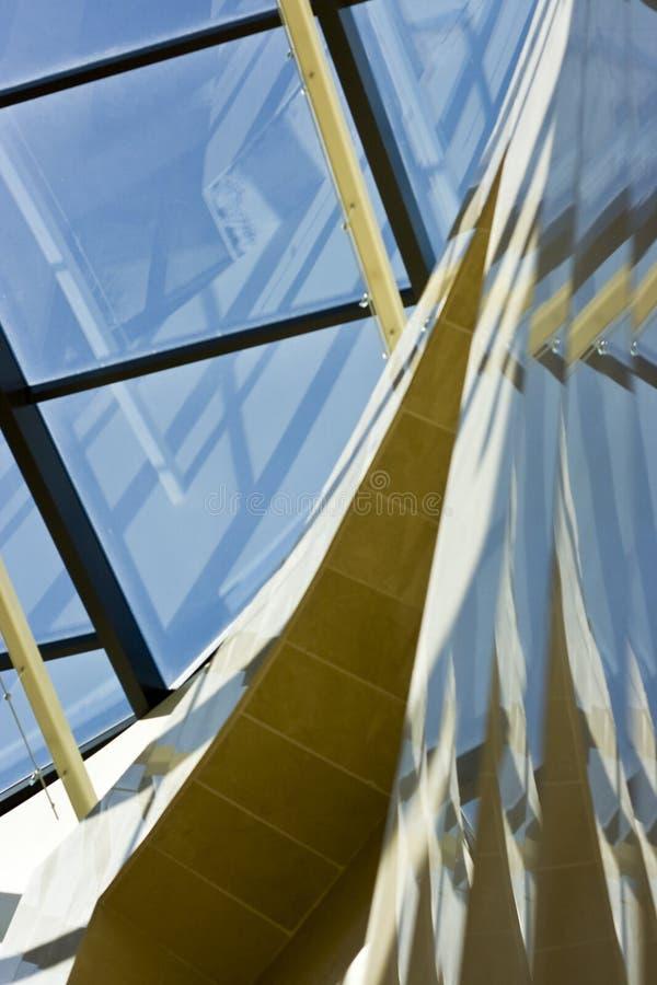 2块玻璃大理石钢 免版税库存图片