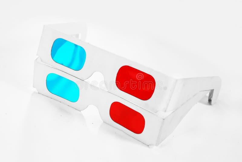 2块3d玻璃 免版税库存照片