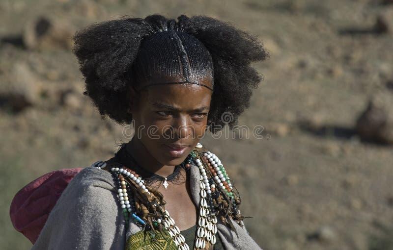 2埃赛俄比亚的女孩 库存照片