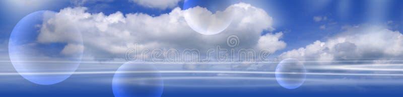 2多云的横幅 库存例证