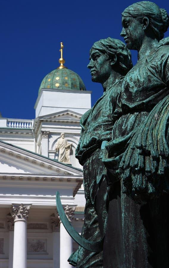 2大教堂赫尔辛基 图库摄影