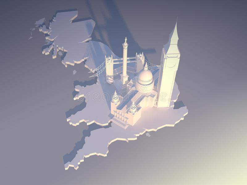 2天线伦敦 皇族释放例证