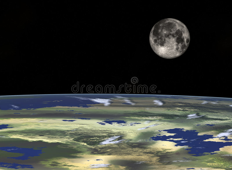 2太空旅行 免版税库存图片