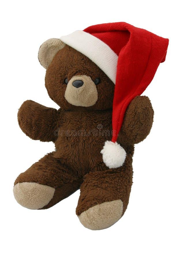 2头熊圣诞节红色女用连杉衬裤 免版税图库摄影