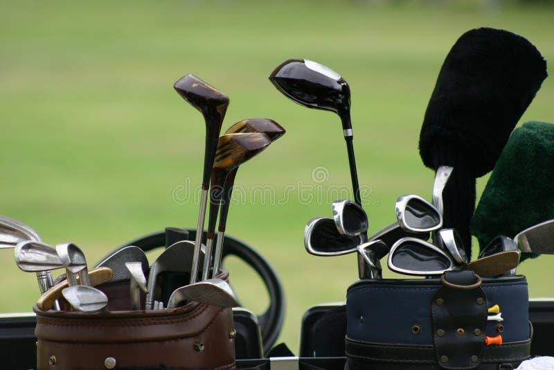 2家俱乐部高尔夫球 免版税库存照片