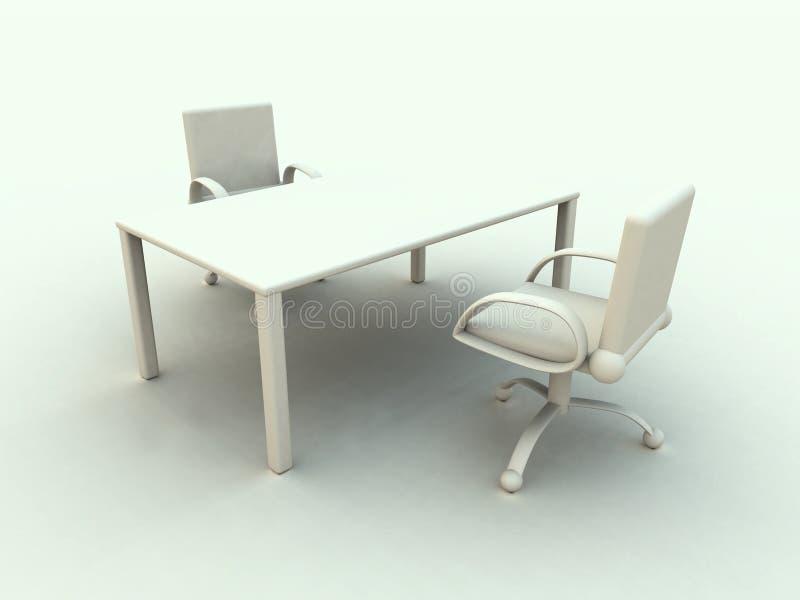 2家具办公室 向量例证