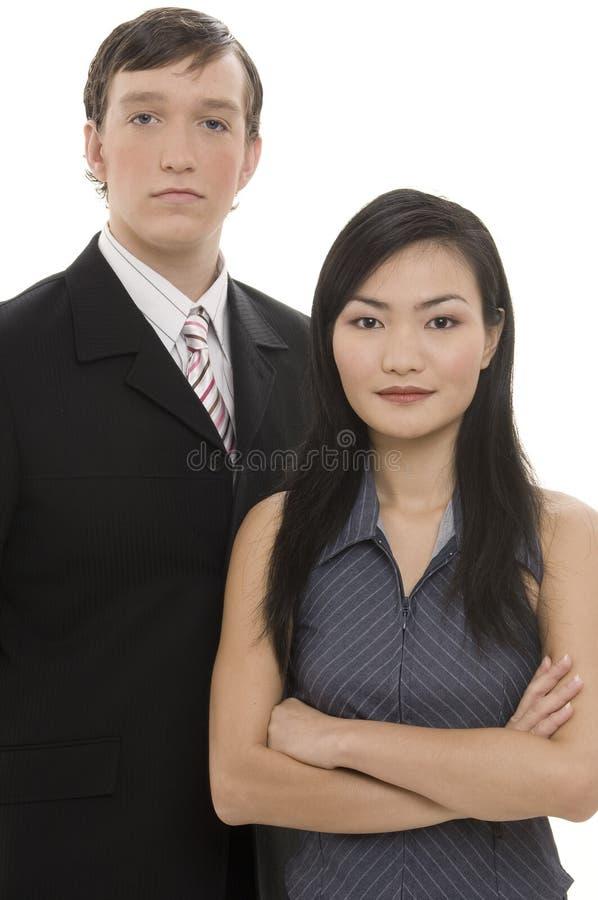 2对企业夫妇 免版税库存照片