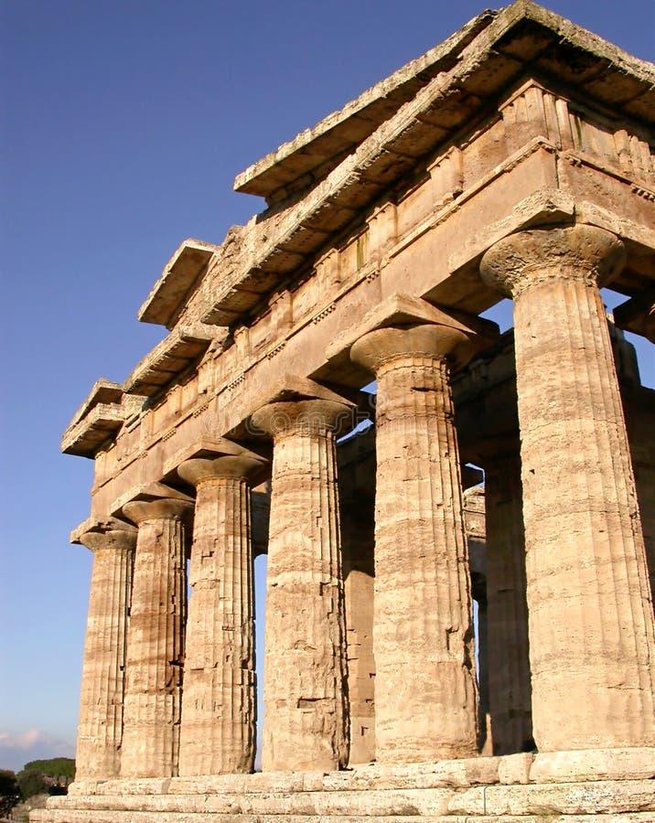 2希腊寺庙 免版税库存图片