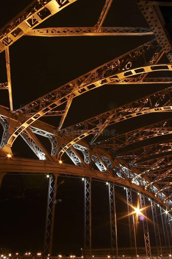 2座桥梁片段金属 免版税图库摄影