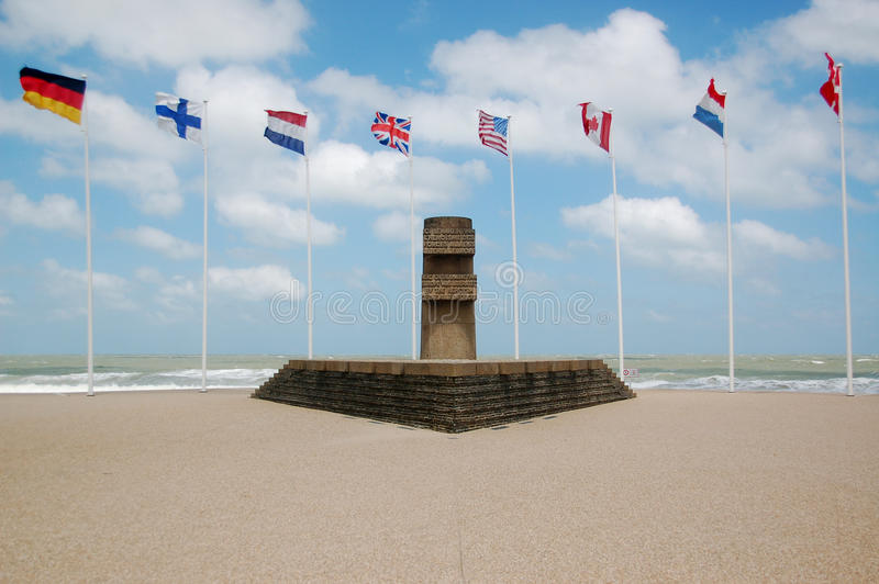2座纪念碑战争世界 库存图片