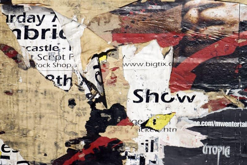 2张海报纹理墙壁 库存图片