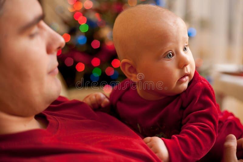 2我首先的圣诞节 免版税图库摄影