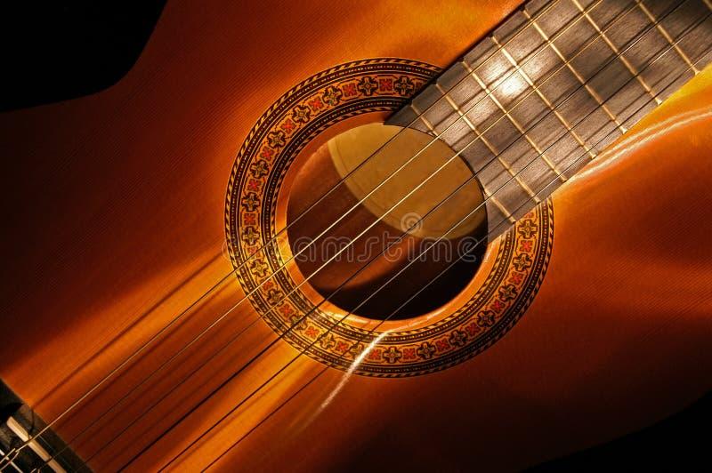 2把吉他lightbrush 免版税库存图片
