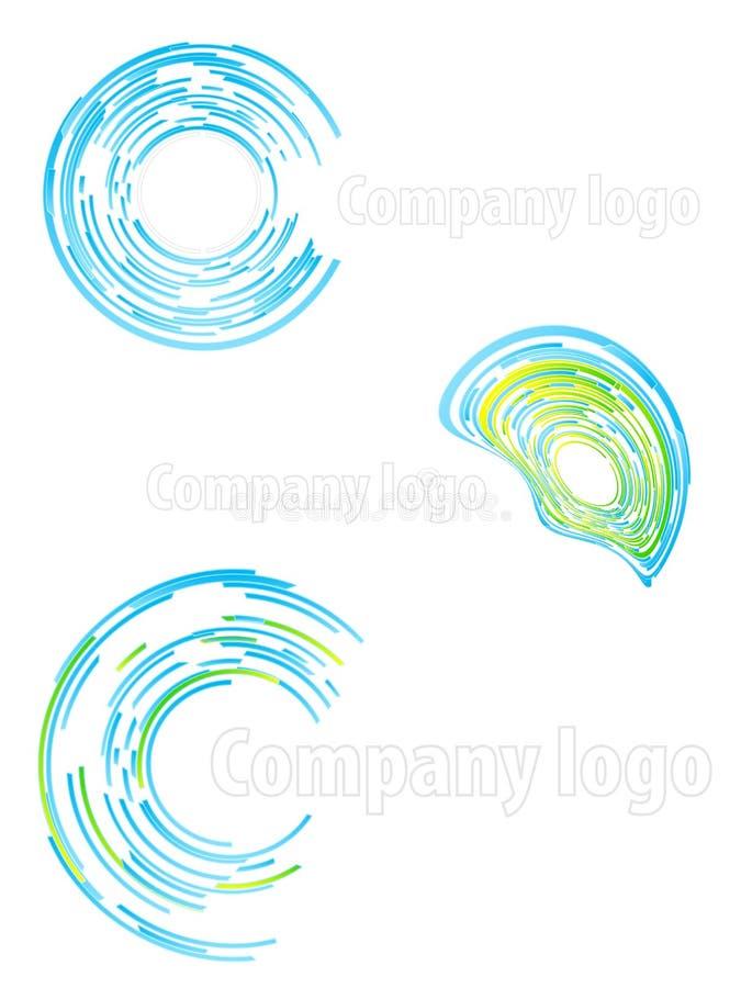 2抽象公司徽标集 库存例证