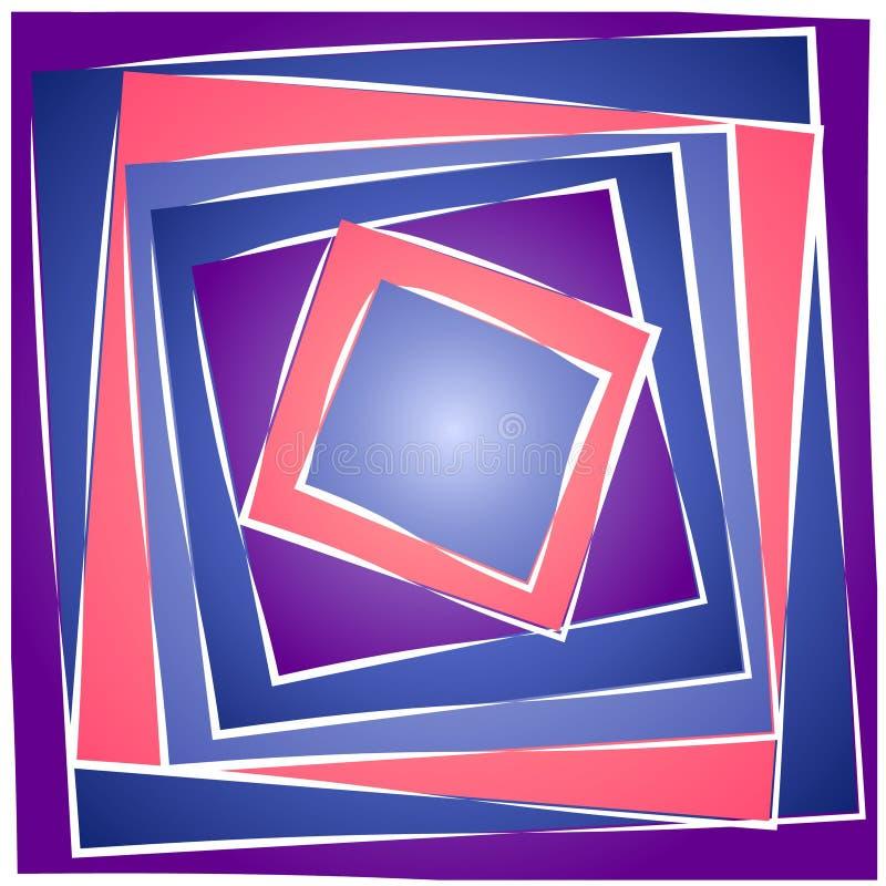 2抽象模式正方形瓦片 库存例证