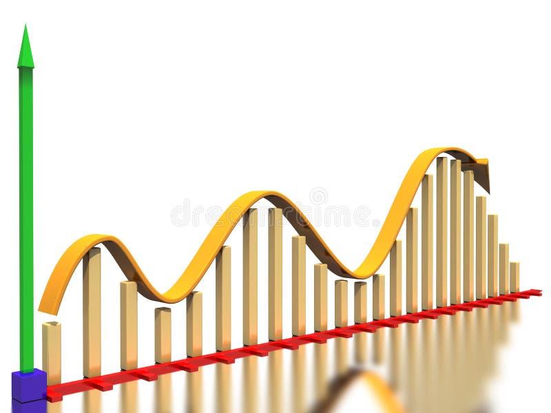 2曲线图形增长 向量例证