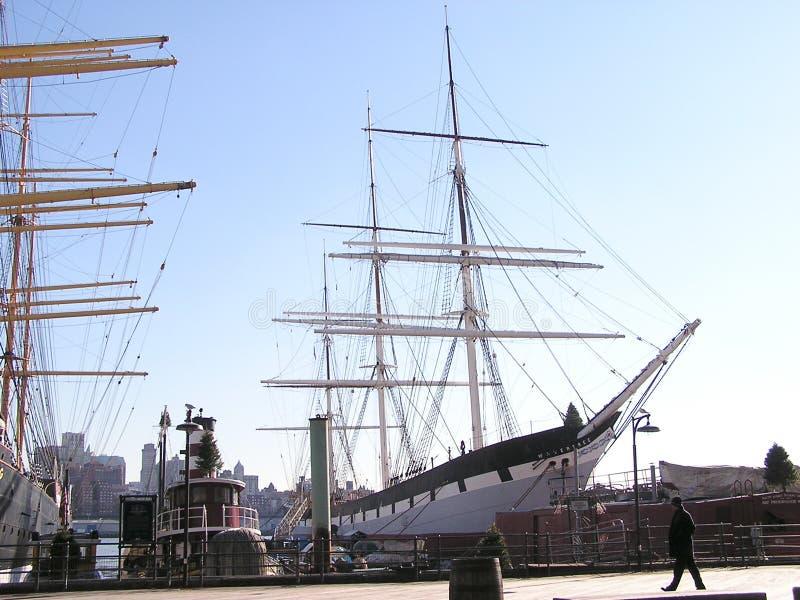 2有历史的帆船 免版税库存图片