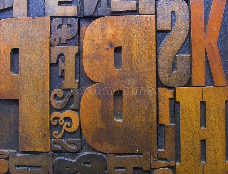 2木刻版印刷木头 库存照片