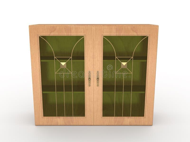 2木的机柜 向量例证