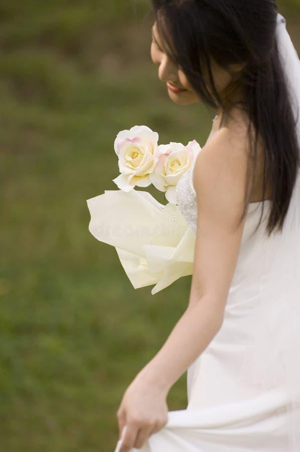2朵玫瑰黄色 库存照片