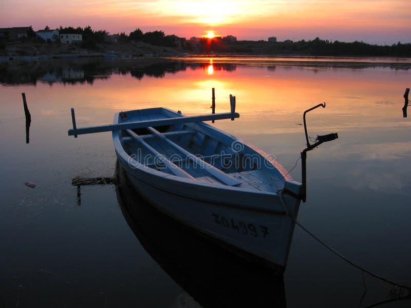 2条小船划船 免版税库存图片