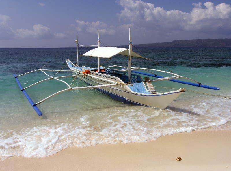 2条小船捕鱼菲律宾 免版税库存照片