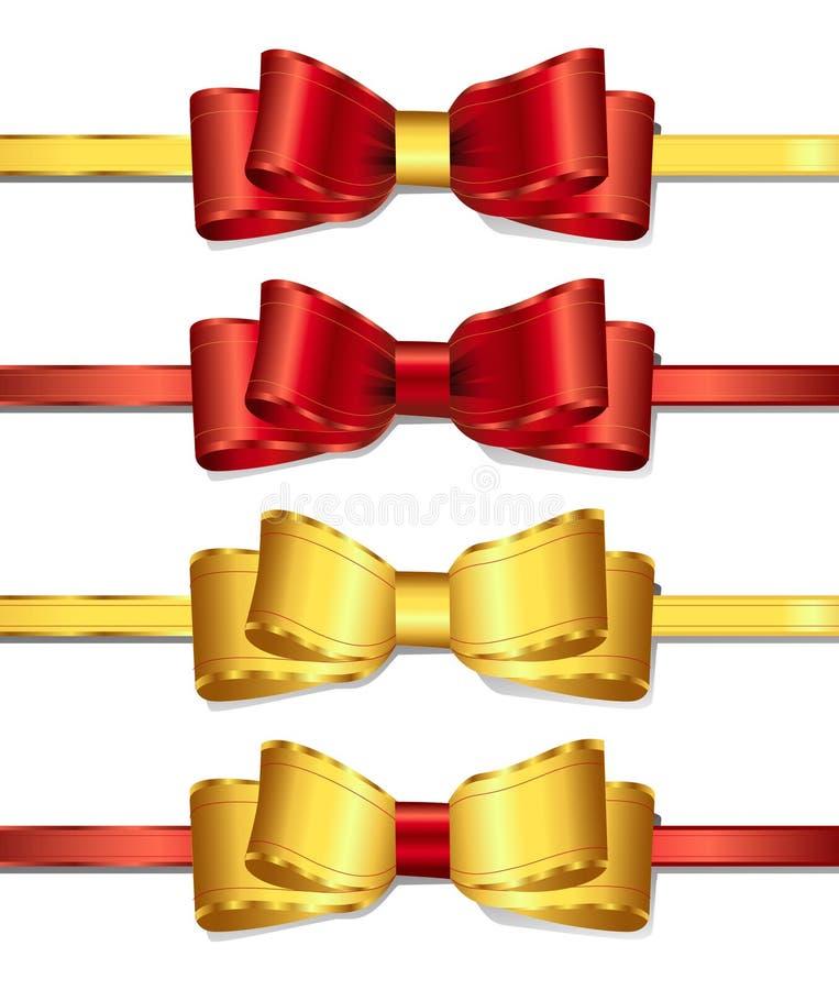 2条弓丝带 皇族释放例证