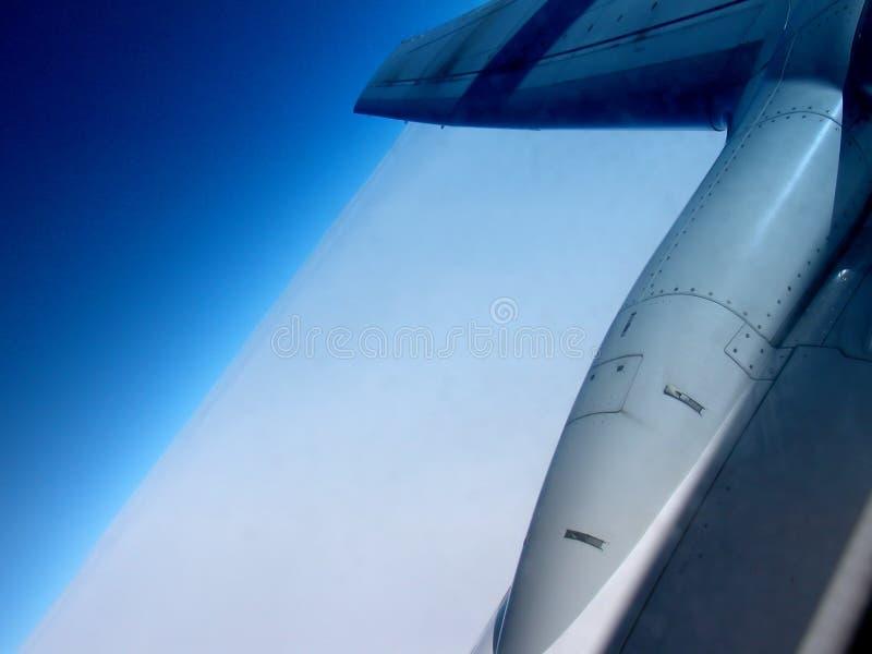 2架飞机引擎 库存照片