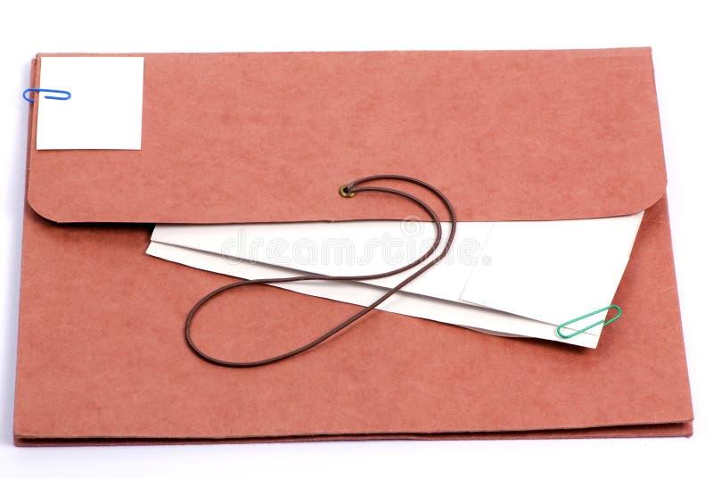 2棕色文件夹 免版税图库摄影