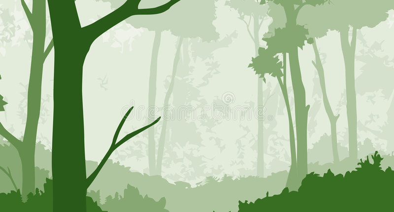 2森林 向量例证