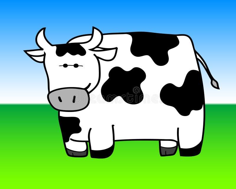 2母牛察觉了 向量例证
