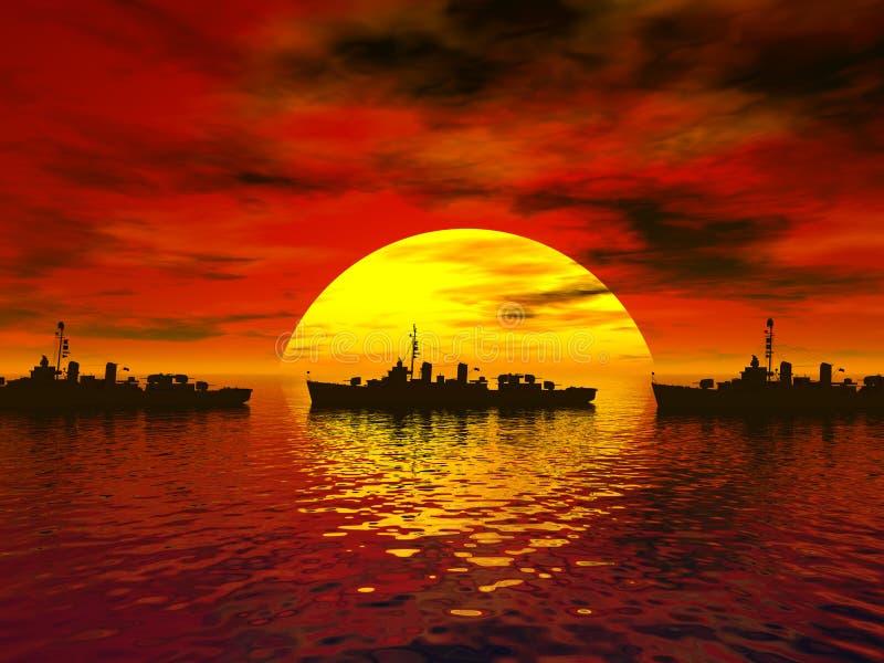 2海运南战争世界 免版税库存照片