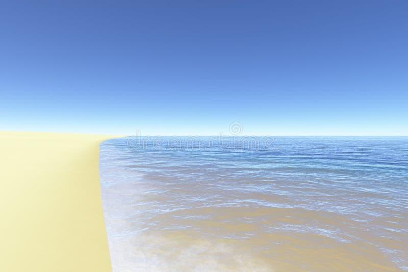 2理想的海滩 库存例证