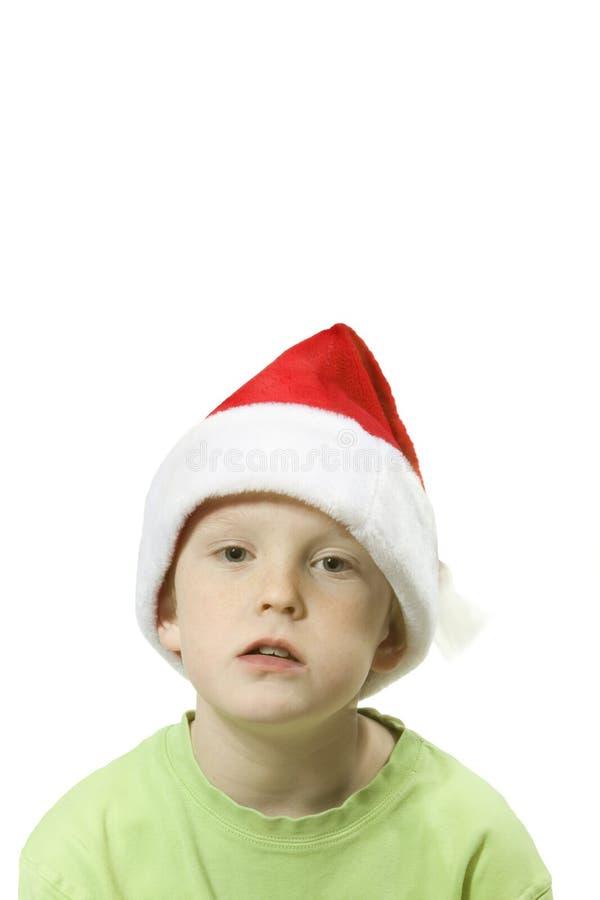 2男孩圣诞老人 库存照片