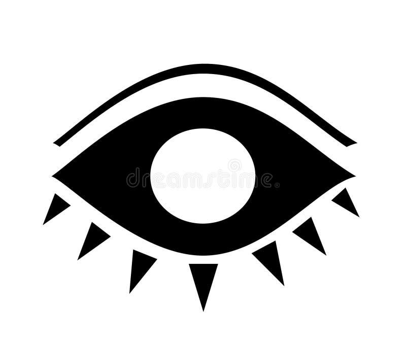 2眼睛 皇族释放例证