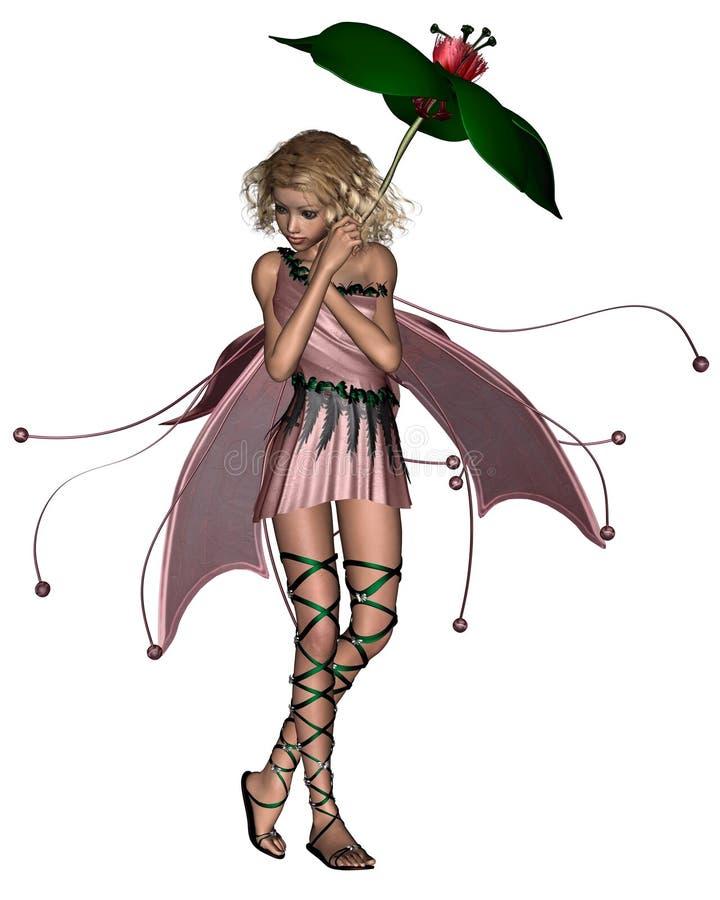2神仙的桃红色伞 皇族释放例证