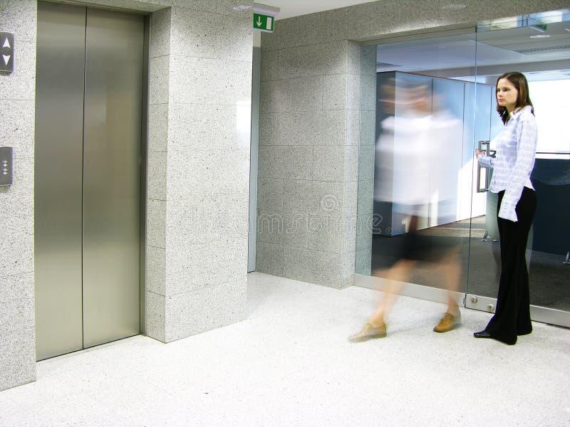 2离开的办公室 免版税库存照片