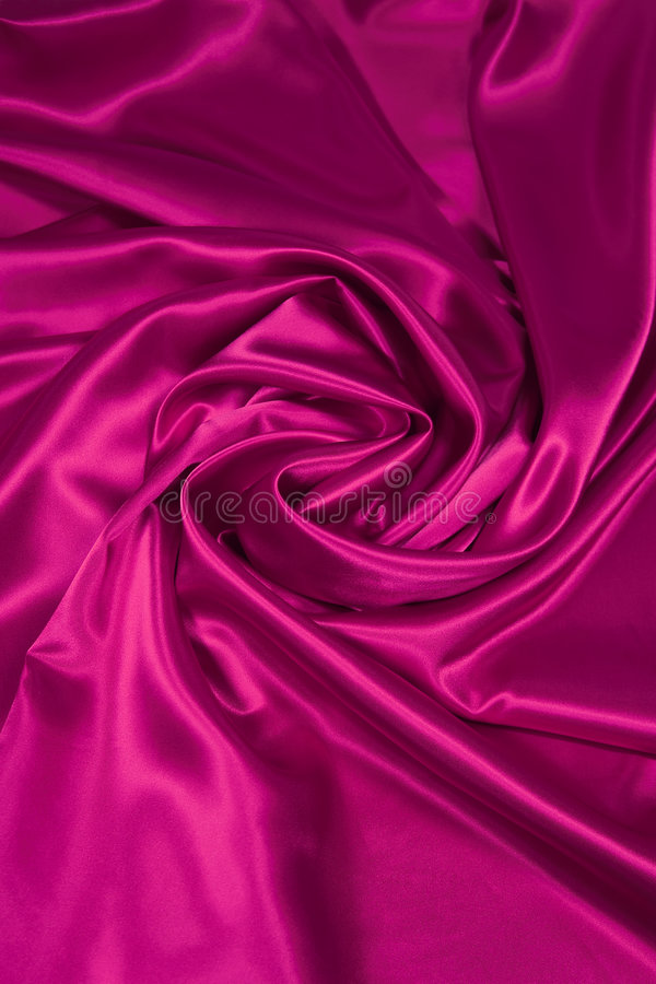 2种织品桃红色缎丝绸 库存照片